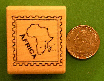 Country and Continent Passport Stamp Frame Rubber Stamps, wood mounted on Rummage