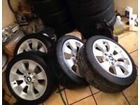 E90 BMW alloys BBS and excellent tyres 225 45 17