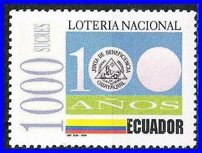 Ecuador 1994  Natl Lottery Cent  Sc  1349 Mnh Money  D01