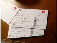 2 x Morrissey tickets - Royal Albert Hall, 7th March (Arena area D)