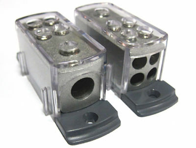 POWER/GROUND POWER DISTRIBUTION BLOCK 4 8 GAUGE CAR AMP
