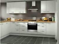 7 Piece Kitchen Units - Modern Matt White - BRAND NEW