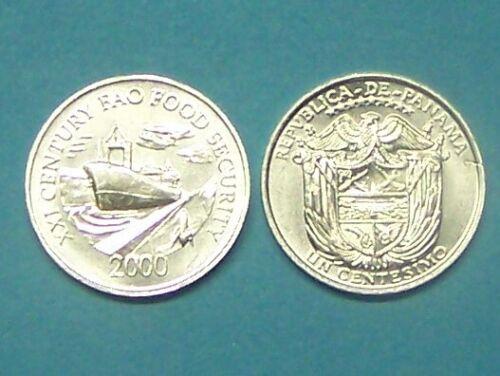 PANAMA  2000  1 CENTESIMO  NICE UNCIRCULATED COIN  KM132
