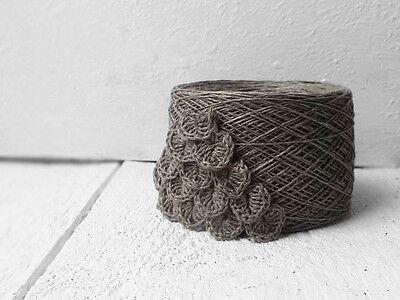 пряжа 4ply linen yarn - natural