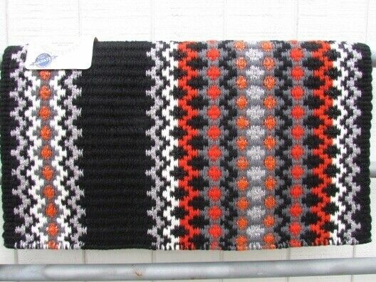 Western Show Blanket Pad by Mayatex - Orange and Silver Metallic