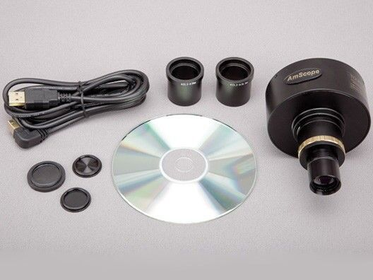 AmScope 10MP Microscope Digital Camera with Focusable Lens