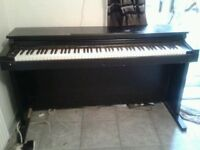 Roland piano full size. 1 bass note not work ,pedal board and music stand missing.