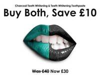 Teeth whitening charcoal and tooth paste