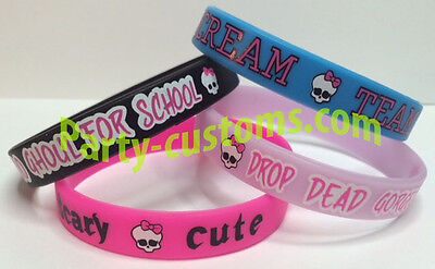 Monster High Silicone Bracelets Birthday Party Favor   - Monster High Birthday Party