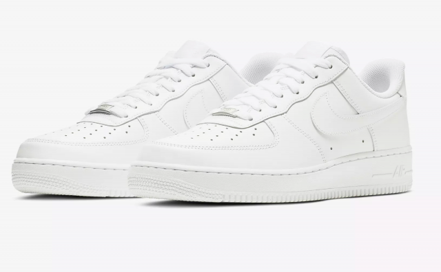 New Mens Sz 8-14 Nike Air Force One 1 Low Top Triple White 3