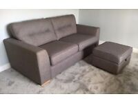 NEW DFS MOCHA 2 SEATER SOFA CAN DELIVER FREE