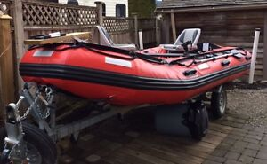 Pro Ocean 430T 14Ft Red-PVC inflatable boat