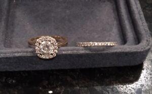 1.14 K Diamond Custom Engagement Ring + Matching Wedding Band