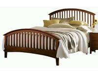 Wooden kingsize bed frame
