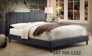 Brand New Fabric Bed Frames - Tufted Fabric or Leather **SALE**
