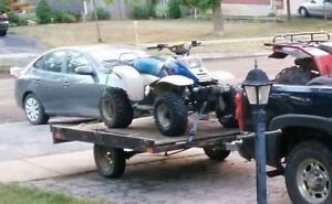 Snowmobile ATV tilt trailer