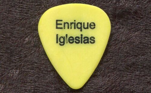 ENRIQUE IGLESIAS 2004 Seven World Tour Guitar Pick!!! TONY BRUNO custom stage