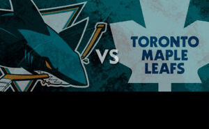 Toronto Maple Leafs vs San Jose Sharks!....2 Nice Seats!
