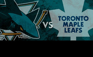 Maple Leafs vs San Jose Sharks....December 13th....2 Tickets!