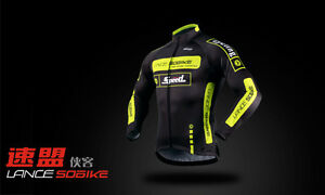 Sobike-New-Cycling-Winter-Jacket-Knight-Fleece-Thermal-Long-Jersey-Black-Green