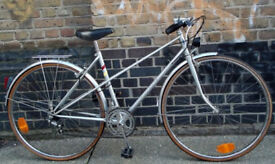 French vintage road ladies bike RAYMOND POULIDOR size 20in - SILVER !! 10 speed, serviced WARRANTY