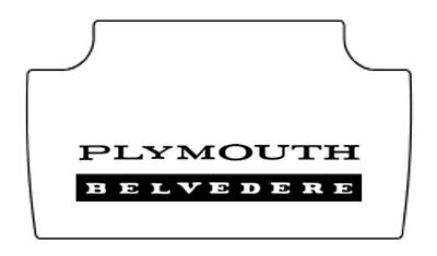 Plymouth Rubber - 1965 1967 Plymouth Belvedere Trunk Rubber Floor Mat Cover with MB-010 Belvedere