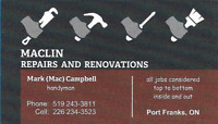 Handyman - Repairs and Renos