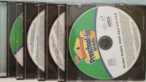 Preschool-1st Grade, 4 CD-ROMs: Reader Rabbit, Arthur, Blue