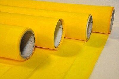 300 Count Silk Screen Printing Mesh Fabric Polyester Yellow-1 Yard-ships Free