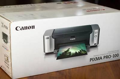 Canon PIXMA PRO-100 Wireless Inkjet Photo Printer - NIB No Ink No Print Head