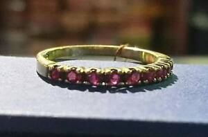 14k Gold Ring with red gemstones $295 ... Valentines is comin