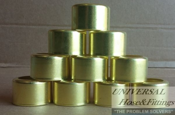 """BRASS FERRULES 10 PACK FOR 1/2"""" 300 PSI AIR HOSE 7244"""