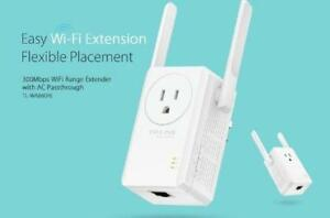 TP-LINK 300Mbps Wi-Fi Range Extender with AC Passthrough - TL-WA
