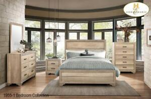 Rustic contemporary aesthetic 8pcs. Queen bedroom set (MA410)
