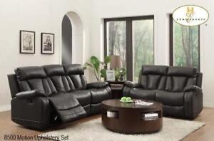 Black Leather Recliner Set Featuring Motion Upholstery MA10 8500BLK-1 (BD-1363)