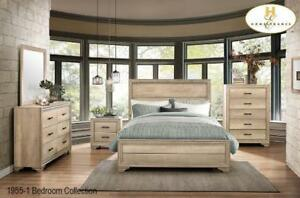 Beige Queen 8 Pc Bedroom Set Ma720