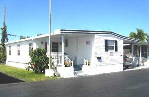 Belle maison mobile de 60 pieds à Hallandale en Floride