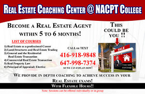 Real Estate License for  Exam -Tutoring