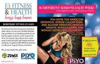 Fun & effective Fitness Classes incl. Piyo & Zumba