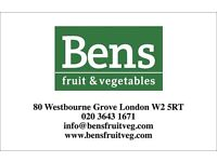 Looking for a full time cashiers in nottinghill w2 £350 to £400 pw