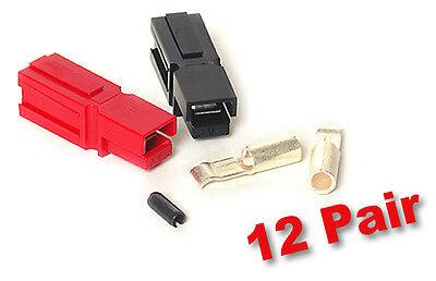 Anderson Powerpole Sermos 30amp 12 Pair Acdc Connectors Redblack Roll Pins