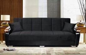 BUY - Special Offer NEW Italian Style LARGE 3 SEATER SOFA BED With Large STORAGE + SAME DAY DELIVERY