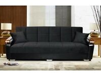 65% = DISCOUNTED OFFER ** NEW Italian Style LARGE 3 SEATER SOFA BED + LARGE STORAGE + SAME DAY DROP
