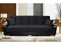 ( 14 DAYS MONEY BACK GUARANTEE ) ITALIAN SOFA BED IN 5 DIFFERENT COLORS - BRAND NEW WITH STORAGE -