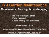 S J Garden Maintenance. FENCING, LANDSCAPING & MAINTENANCE
