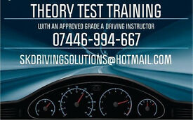 THEORY TEST TRAINING AUTOMATIC & MANUAL DRIVING LESSONS WITH AN APPROVED GRADE A INSTRUCTOR