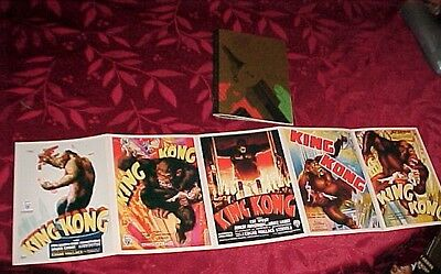 """KING KONG"" 1933 5- Movie Poster Postcards & Small Book Of Press On The Movie"