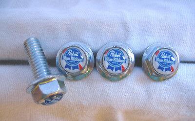 Pabst Beer License Plates Screws, Pabst Blue Ribbon Logo Plate Screws , Pabst