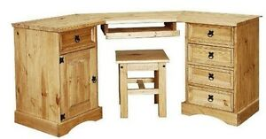 New-Corona-Pine-Computer-Corner-Table-Desk-Workstation-Office-Furniture-NEW