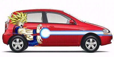 Goku Wall Decal Anime Dragon Ball Z Sticker Decor Vinyl Window Cars Character